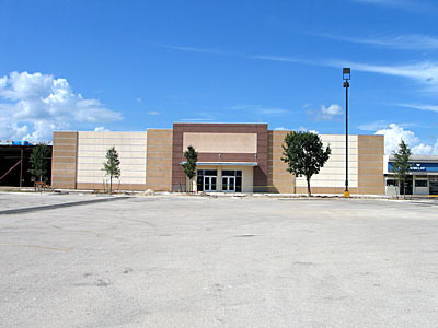 The new Bealls Department Store will be finished soon.