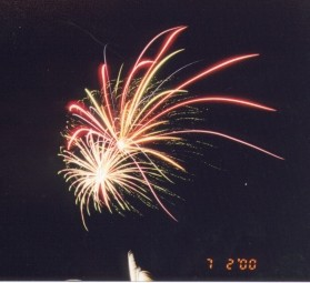 Part of the Spectacular Fireworks as seen by an estimated 10,000 throughout the city.